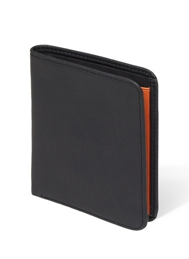 Case Look 9.5X11.5 Cm Suni Deri Erkek Cüzdan Siyah